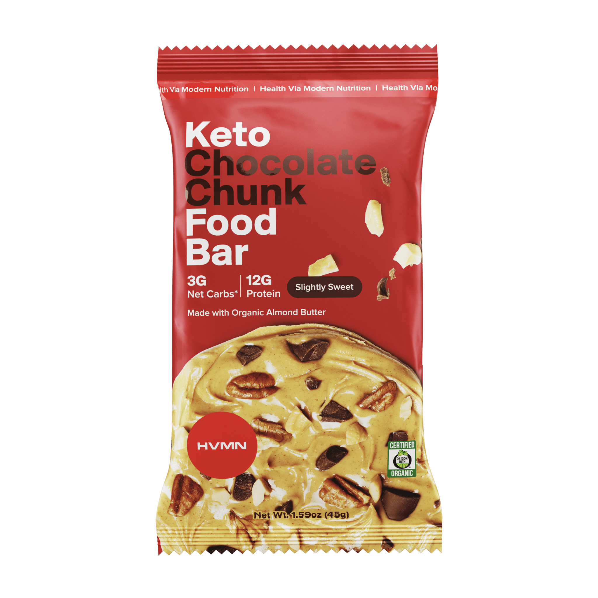 Keto Food Bar - 12 Pack Keto Food Bar H.V.M.N. Chocolate Chunk