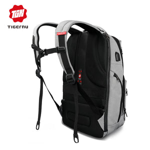 TigerNu 2018 T-B3242 15.6 inches Anti-Theft Laptop Business Backpack School Bag w/Lock