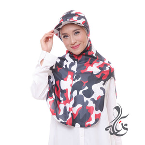 ATTIQA ACTIVE,  LONG RUNNER ARMY SPORT HIJAB