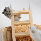 Wooden Ladder with Hook for Climbing Pet
