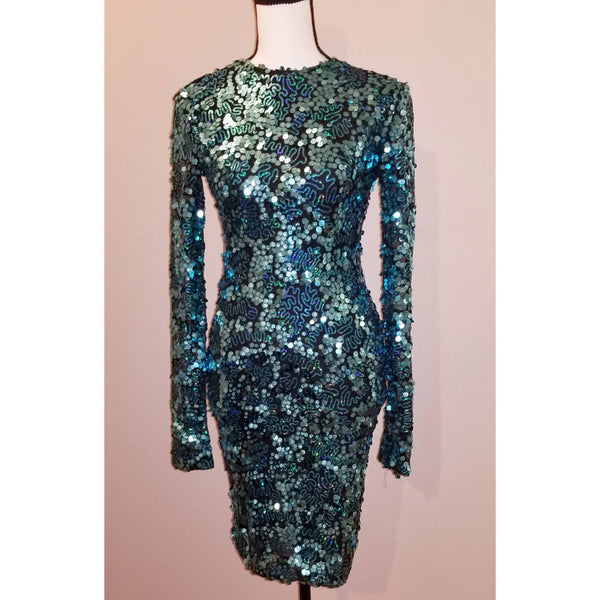 Sequin Couture Midi Dress - Size M