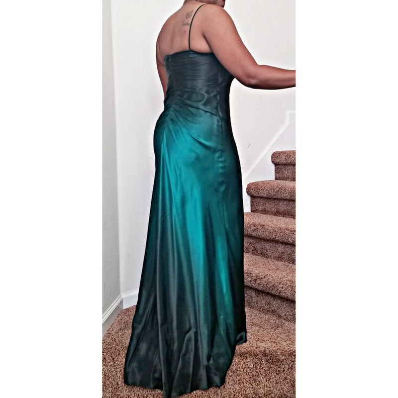 MultiColor Long dress with Embellishment - Size 10