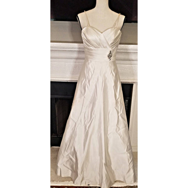 2 White Bridesmaid Dresses - Size 2