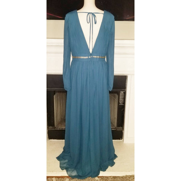 Vneck Empire Chiffon Dress - Size 16W