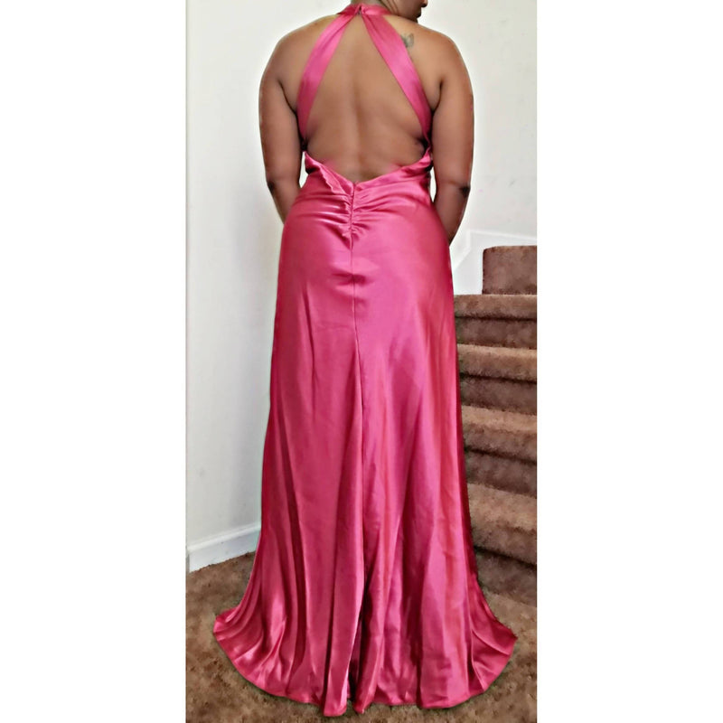 Halter Open Back Gown - Size 12