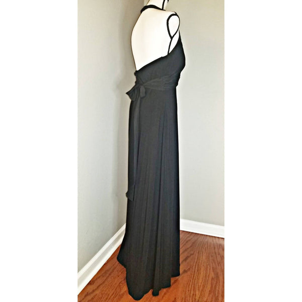 Jewel Lined Halter Dress - Size 14