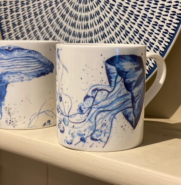 Willow Art Fine Bone China Jellyfish Mugs