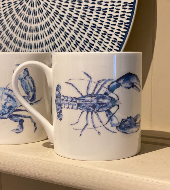 Willow Art Fine Bone China Lobster Mugs