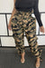High Waist Plus Size Camouflage Pants-Bottoms-Chicbela