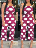 Fashion Off The Shoulder Polka Dot Sleeveless jumpsuits-jumpsuits-Chicbela