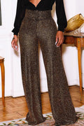 High Waist High-elastic Casual Pants-Bottoms-Chicbela