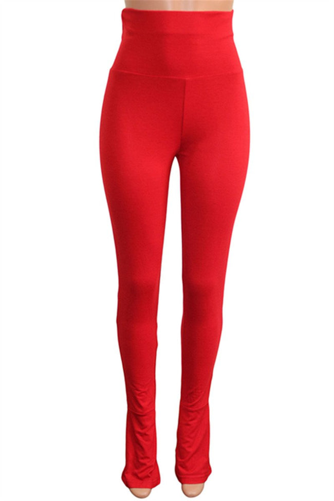Solid High Waist Bodycon Pants-Bottoms>Pants>Solid-Chicbela