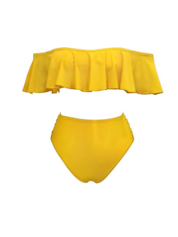 Ruffle High-Waist Bikini-Swimsuits>Bikini>Sexy-Chicbela