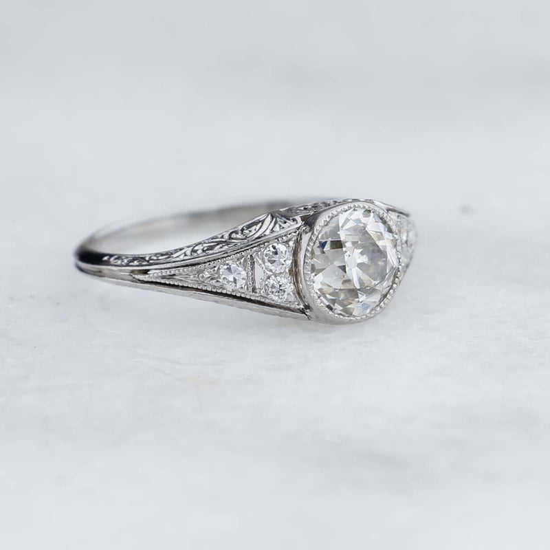 Art Deco Engagement Ring #VR191122 - Leigh Jay & Co.