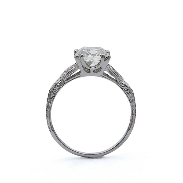 Replica Art Deco Engagement Ring #1003-38 - Leigh Jay & Co.