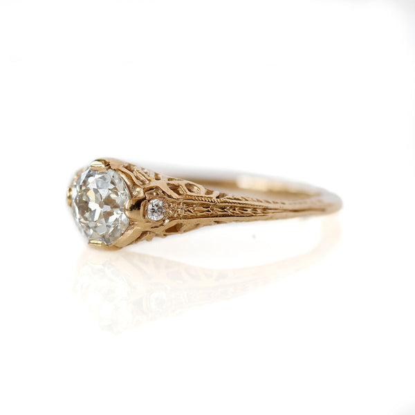 Replica Art Deco Engagement Ring #1020-8 - Leigh Jay & Co.