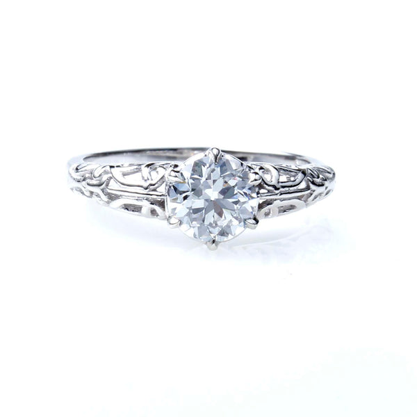 Replica Edwardian Engagement Ring with Vintage Diamond #1021B-2