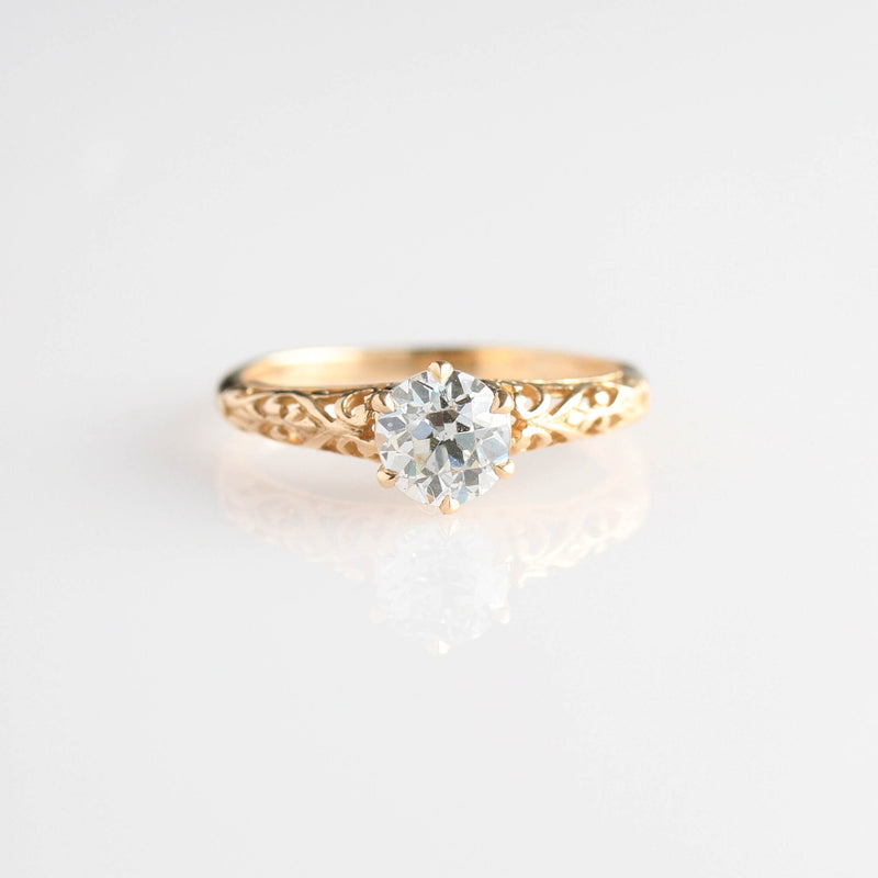 Replica Edwardian Engagement Ring #1022-17 - Leigh Jay & Co.