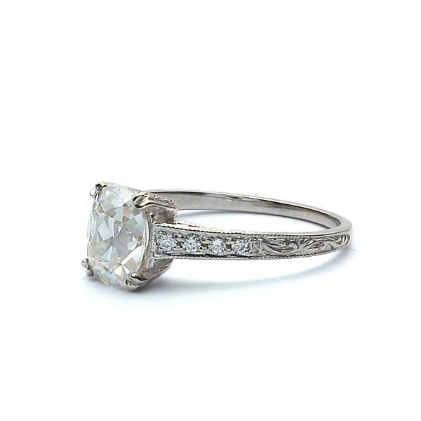 Replica Art Deco Engagement ring #1030EC-7 - Leigh Jay & Co.
