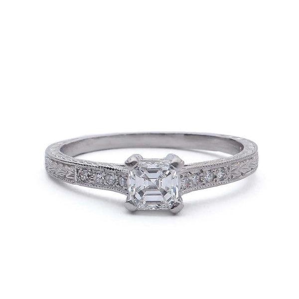 Replica Art Deco Engagement Ring #1030S-6 - Leigh Jay & Co.