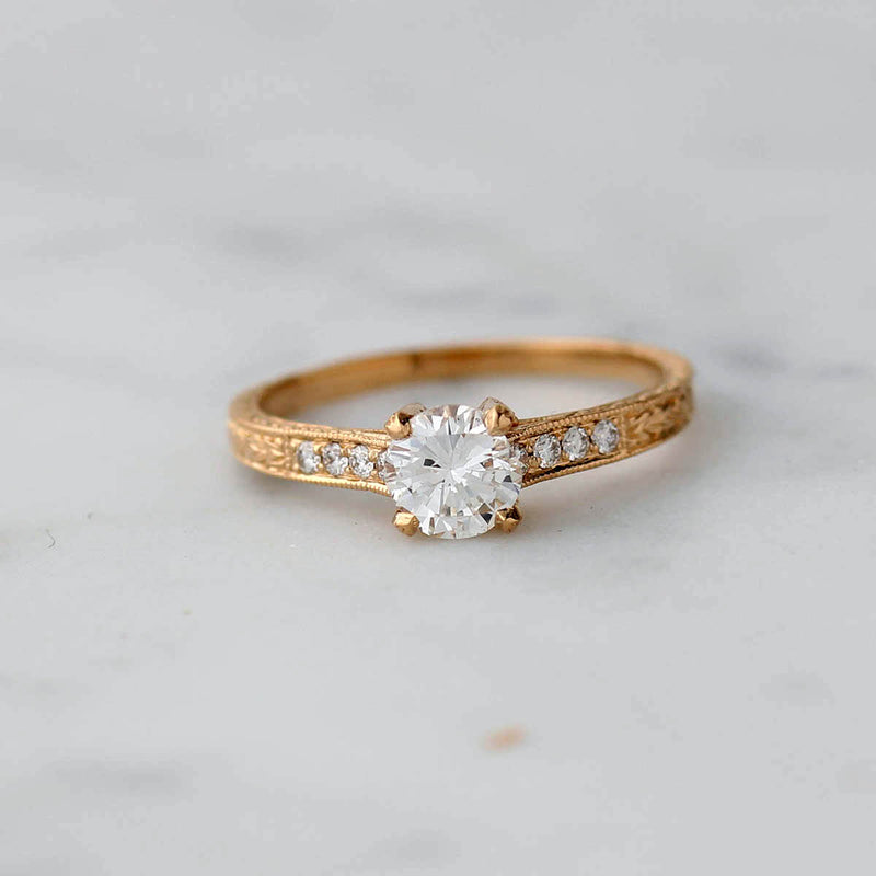 Replica Art Deco Engagement Ring #1030S-07 - Leigh Jay & Co.