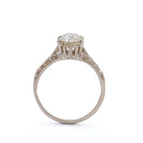 Replica Edwardian Engagement ring #1078-10 - Leigh Jay & Co.