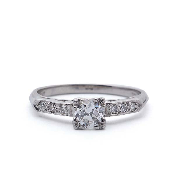 Replica Art Deco Engagement Ring #1132-01 - Leigh Jay & Co.