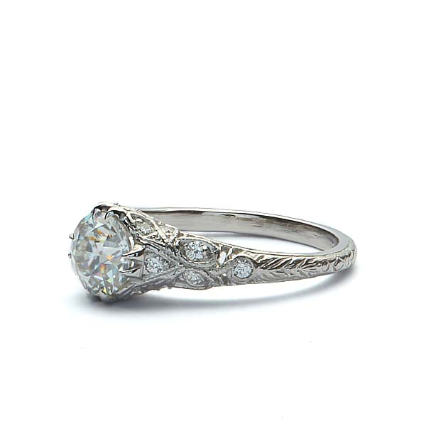 Replica Art Deco Engagement Ring #1140-57 - Leigh Jay & Co.