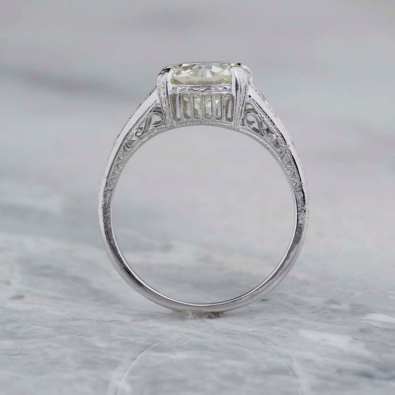 Replica Art Deco Engagement Ring #1278-37 - Leigh Jay & Co.