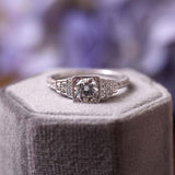 Replica Art Deco Engagement Ring #1285-15 - Leigh Jay & Co.