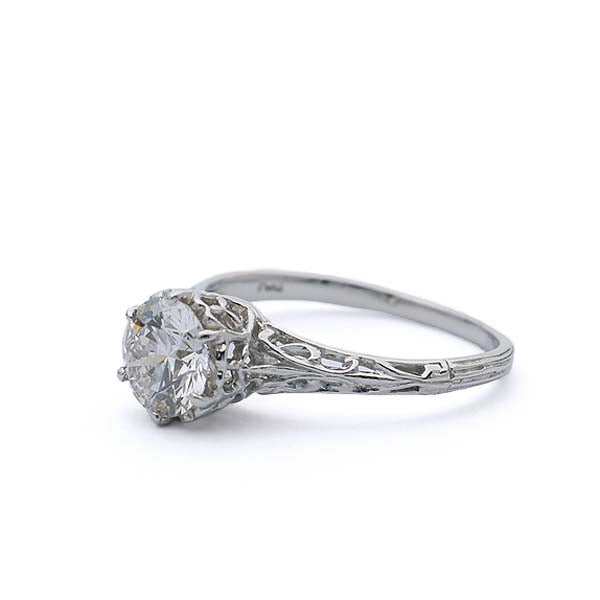 Replica Belle Epoque Engagement ring #1320-02 - Leigh Jay & Co.