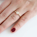 Replica Edwardian Engagement ring set with a vintage diamond #1801-5 - Leigh Jay & Co.