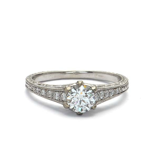 Replica Edwardian Engagement ring #1910-25 - Leigh Jay & Co.