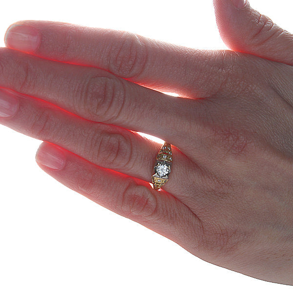 Replica Art Deco Engagement Ring #1952-01 - Leigh Jay & Co.