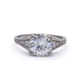 Replica Art Deco Engagement Ring #1R100-PT
