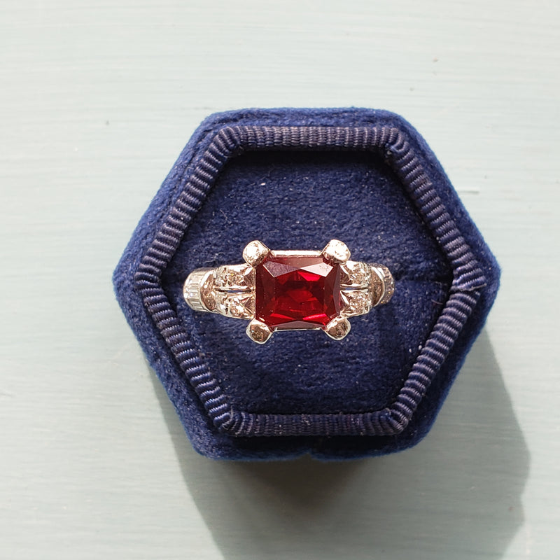 Art Deco Engagement ring #R355-05 - Leigh Jay & Co.
