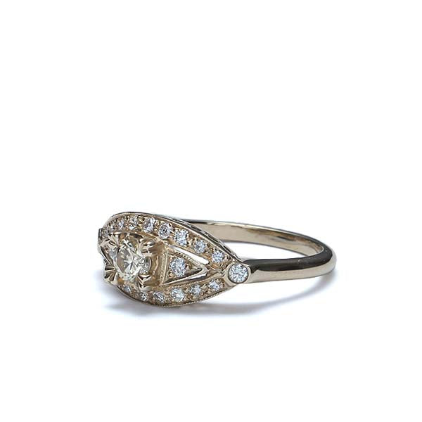 Replica Art Deco Engagement Ring #2302-02 - Leigh Jay & Co.