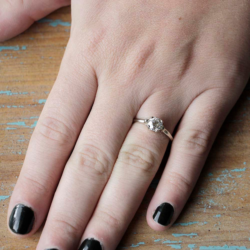 Replica Art Deco Engagment Ring #2443-5 - Leigh Jay & Co.