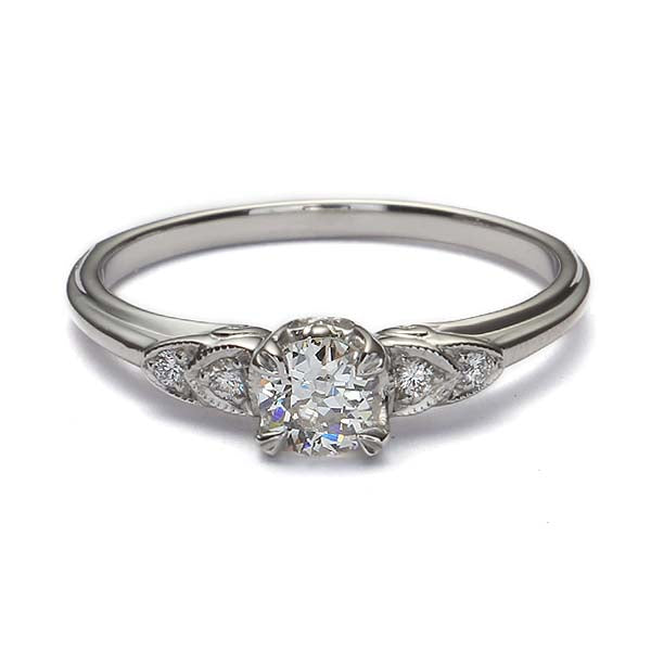Replica Art Deco  Engagement Ring Setting #2564-15 - Leigh Jay & Co.