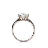 Replica Edwardian Engagement ring #2636-31 - Leigh Jay & Co.