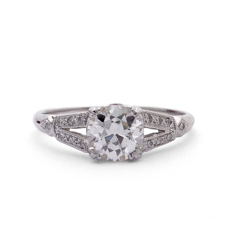 Replica Art Deco Engagement Ring #2642-7 - Leigh Jay & Co.