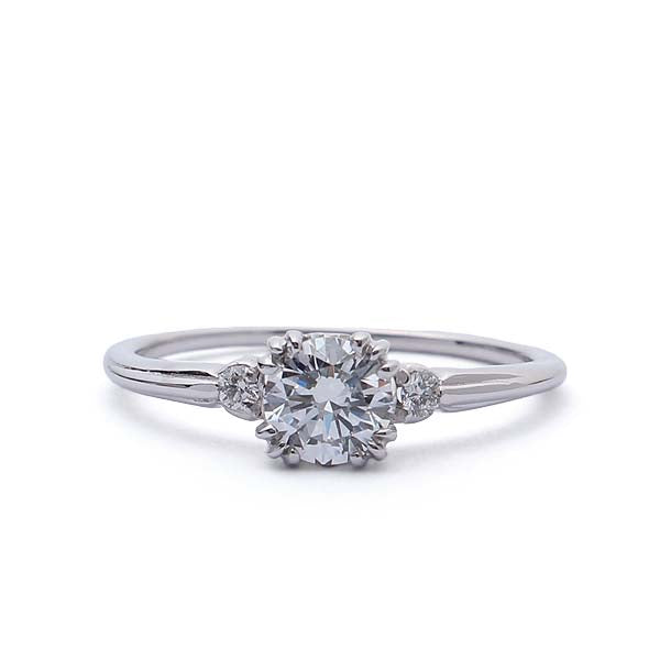Replica Art Deco Diamond Engagement Ring #2653-01 - Leigh Jay & Co.