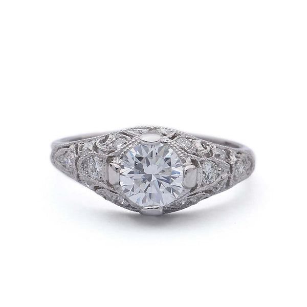 Replica art deco engagement ring #2662-9 - Leigh Jay & Co.