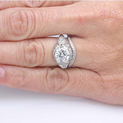 Replica Art Deco Engagement Ring #2r235-1 - Leigh Jay & Co.