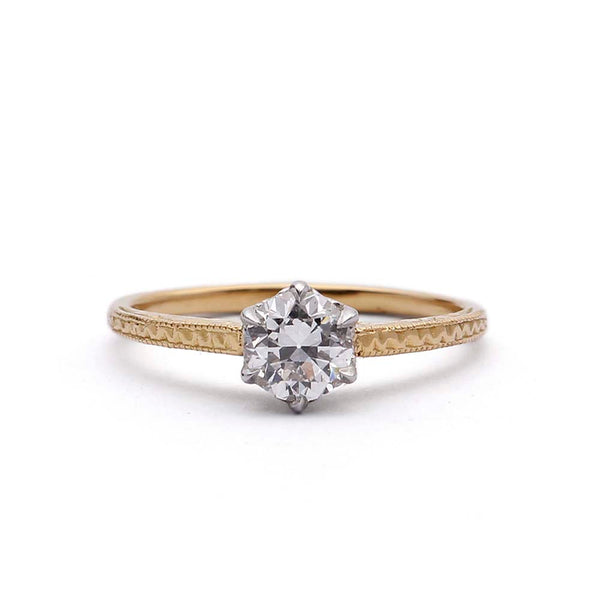 Replica Edwardian Engagement Ring #3004-3 - Leigh Jay & Co.