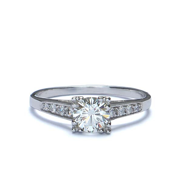 Replica 1930s engagement ring. #411051 - Leigh Jay & Co.