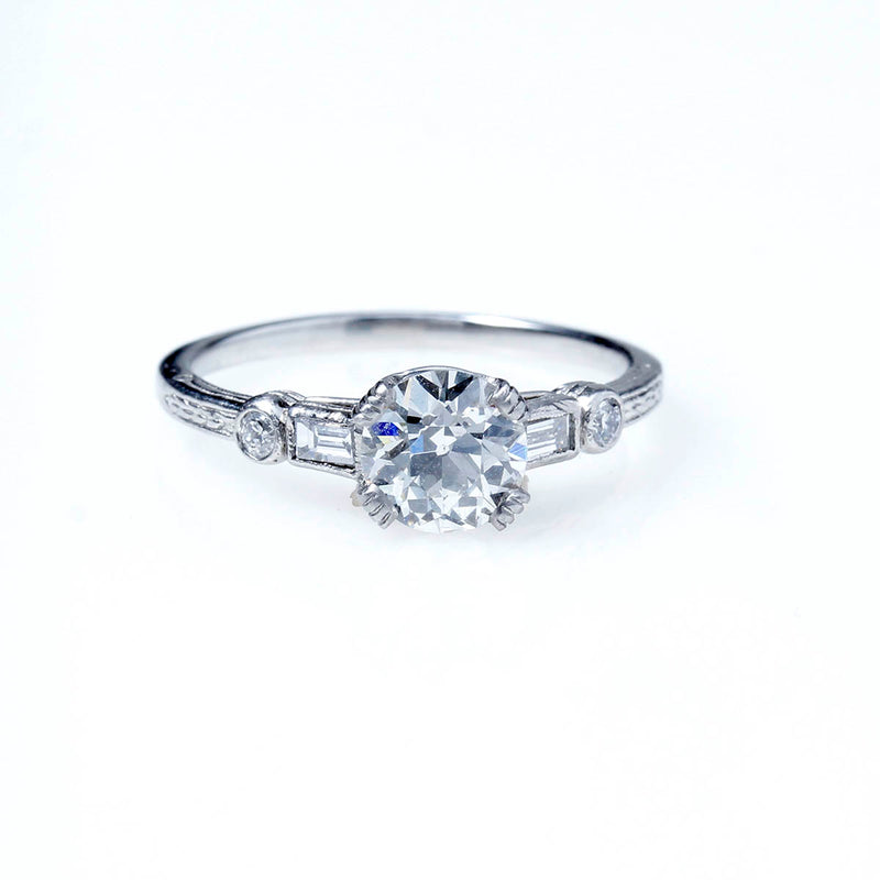 Replica Art Deco Engagement Ring #3050-8