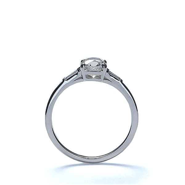 Replica 1930s engagement ring set with a cushion cut diamond #3051-06 - Leigh Jay & Co.