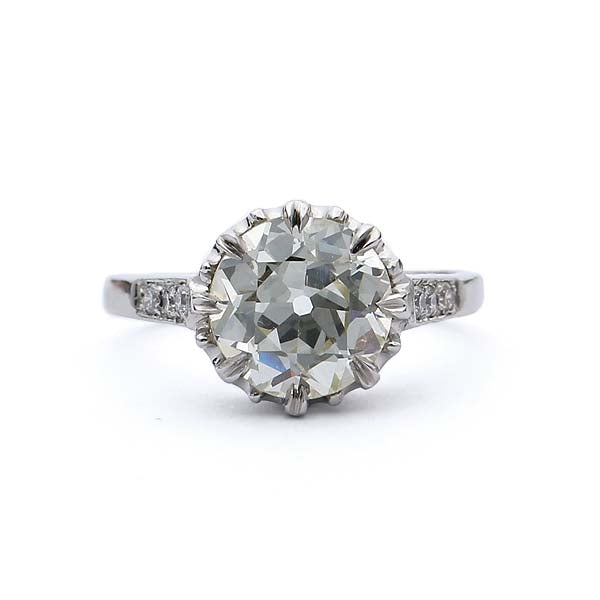 Replica Edwardian Engagement Ring #3060-06 - Leigh Jay & Co.