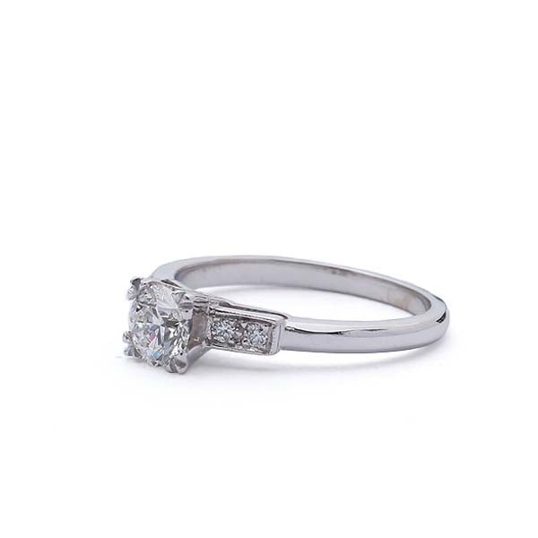 Replica Art Deco Engagement Ring #3063-01 - Leigh Jay & Co.